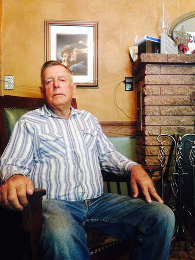 Bundy at his home outside Bunkerville, Nev., in 2014, a few months after the standoff with federal agents. (Kirk Siegler/NPR)