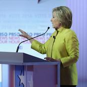 Democratic presidential candidates Bernie Sanders and Hillary Clinton debate Thursday night.
