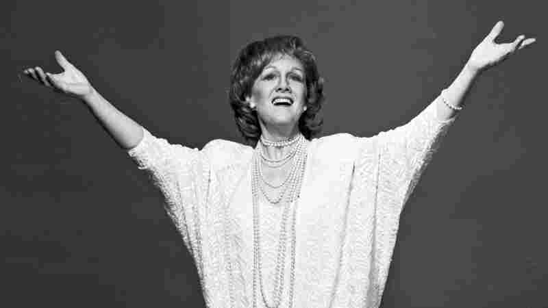 "Soprano Marni Nixon, shown above in June 1988, was dubbed ""The Ghostess with the Mostest"" in Time magazine. ""Bad rhyme, but that sort of stuck,"" she said."
