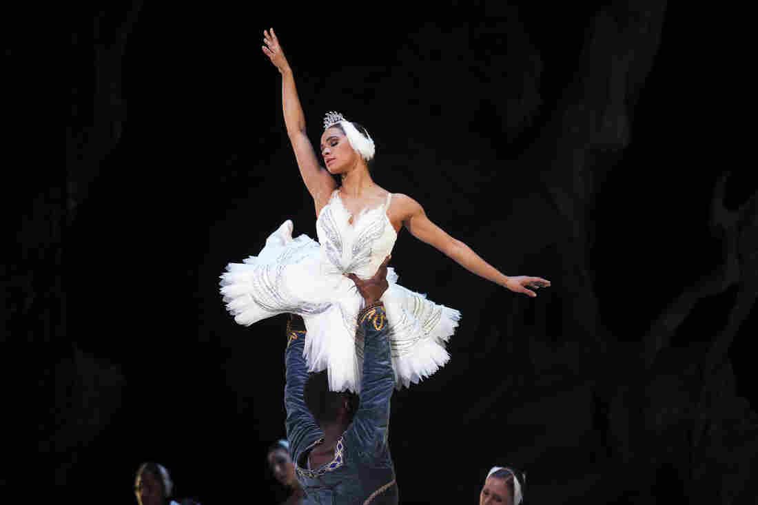 Misty Copeland (center) performed in the Washington Ballet production of Swan Lake in April 2015.