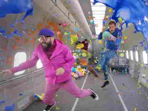 """The video for """"Upside Down & Inside Out"""" shows what the band can do in little to no gravity."""