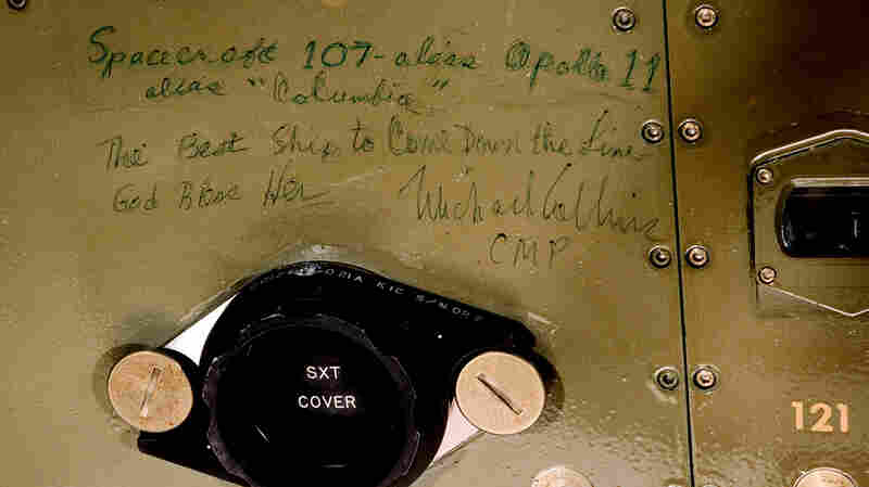 The Smithsonian is sharing images of astronaut graffiti aboard the Apollo 11 command module, including this tribute to the spacecraft.