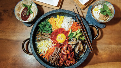 Korean food npr welcome to koreatown a cookbook to tempt american taste buds bibimbap is one of the best known korean dishes forumfinder Choice Image