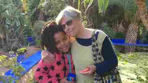 Alice Carter and granddaughter Sarah Wilson in Marrakech, Morocco. Carter is the oldest serving volunteer in the Peace Corps.