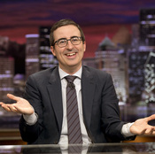 """John Oliver begins a new season of his comedy show Last Week, Tonight on Feb. 14. He says he wants to tackle the most challenging topics, """"whether that is trying to explain some of the NSA's detailed programs, or whether that's putting a cowboy hat on a cat."""""""