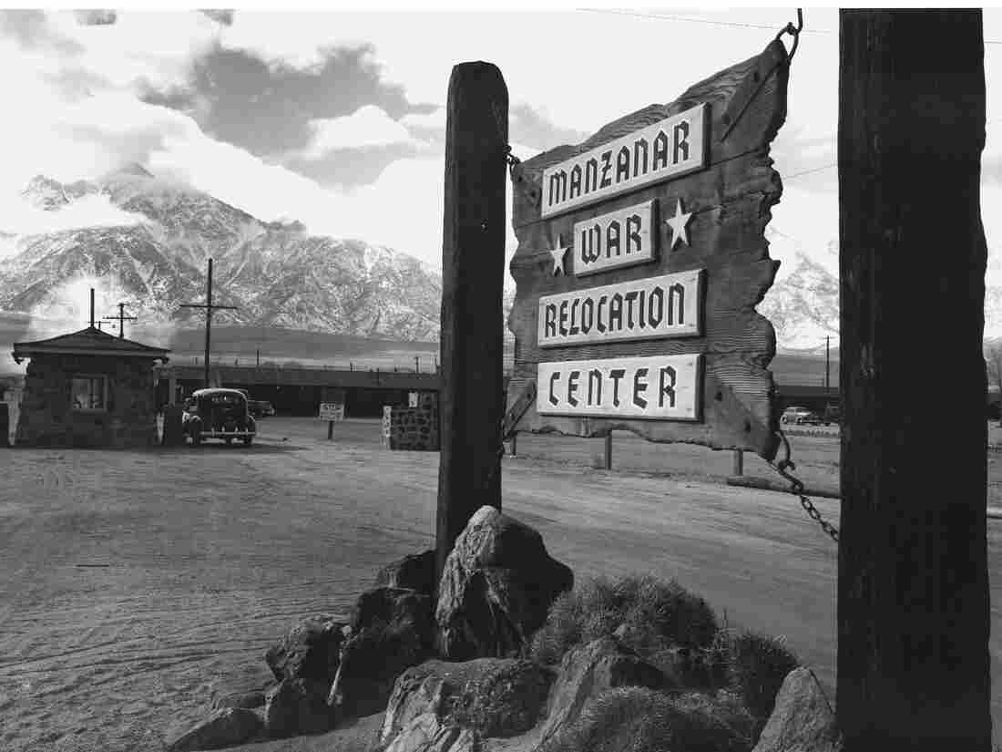The entrance to the Manzanar internment camp.