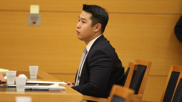 New York City police officer Peter Liang has been found guilty of manslaughter in the death of Akai Gurley. Here, Liang sits in court as testimony is read back for jurors during deliberations in Brooklyn Supreme Court this week. (Getty Images)