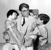 "It was recently announced that Aaron Sorkin will be adapting To Kill A Mockingbird for Broadway. Above, Scout's legs are tired after a particularly long ""Walk-and-Talk."" (Not really.) Above, Gregory Peck as Atticus Finch with Mary Badham as Scout and Phillip Alford as Jem in the 1962 film adaptation of Harper Lee's novel."