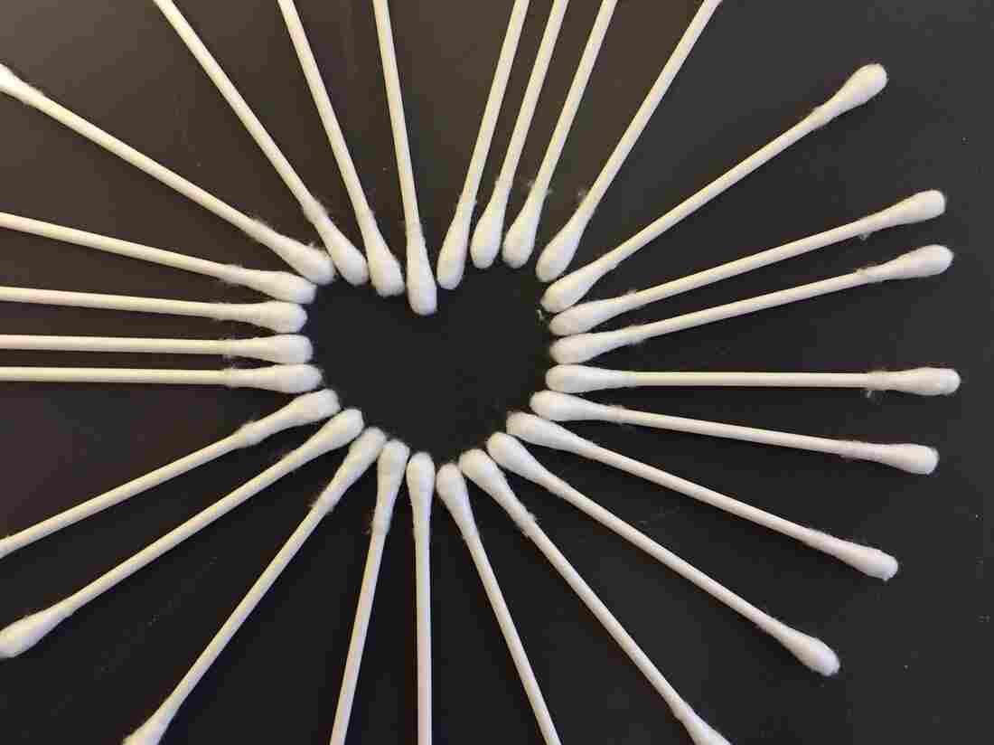 A Q-tip Valentine.