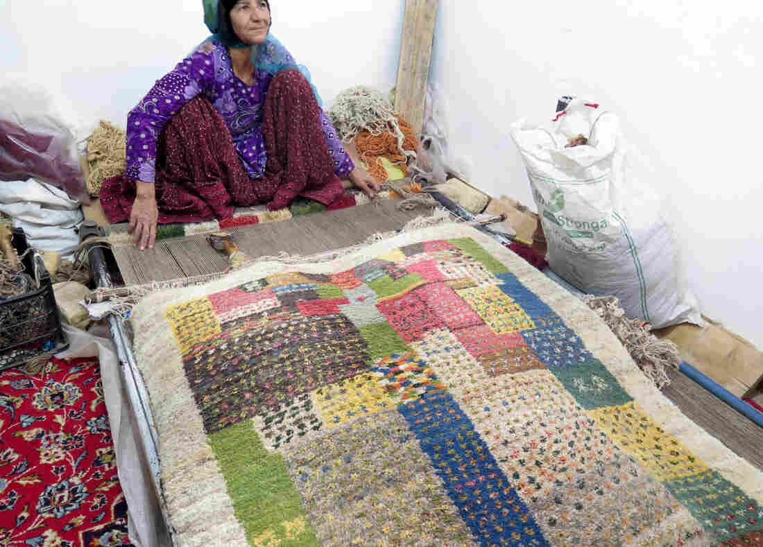 Zarafshan comes from a family of carpet weavers, dating back to her great-grandmother.