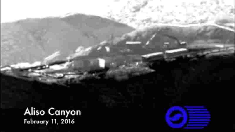 Infrared footage shows the Porter Ranch natural gas leak in the last minutes before it was temporarily capped Thursday.