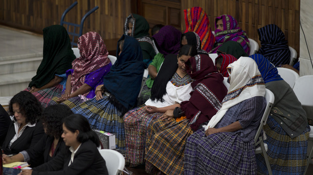 Feb.1 marked the first day of a historic trial in which Mayan women have accused two former military officers of systematic sexual violence during Guatemala's civil war. (AP)