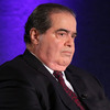Supreme Court Justice Antonin Scalia waits for the beginning of the taping of The Kalb Report in April 2014.