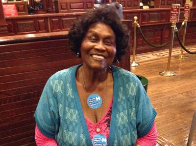 Ruby Duncan is a Hillary Clinton supporter, and says younger women don't understand earlier struggles. (Ina Jaffe/NPR)