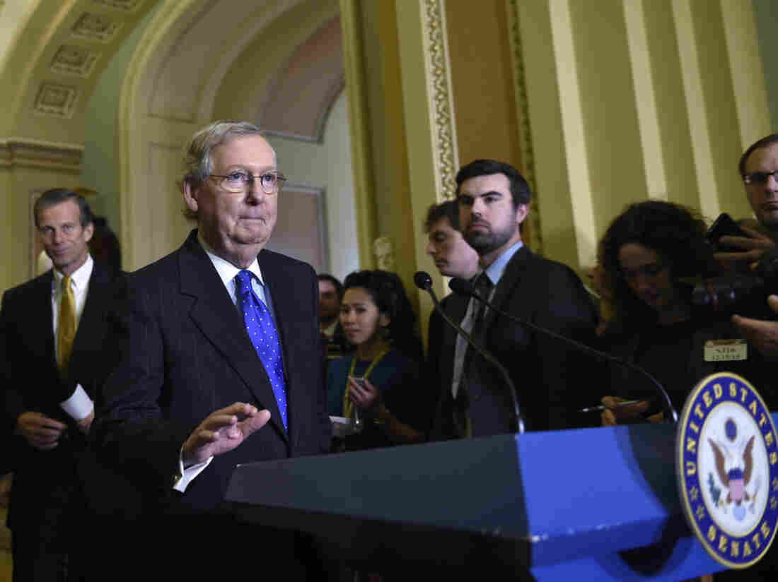 Senate Majority Leader Mitch McConnell said Saturday that the next president should be the one to fill the Supreme Court vacancy.