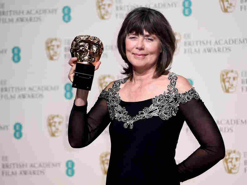 Margaret Sixel, winner of the EE British Academy Film Award for editing for Mad Max: Fury Road at the Royal Opera House on Feb. 14 in London.