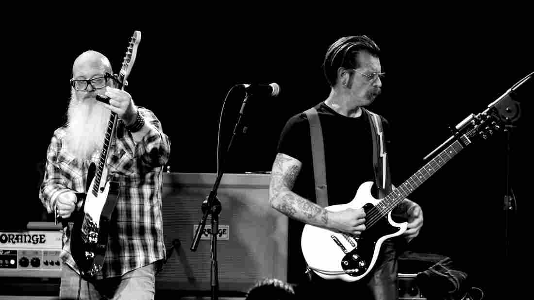 Musician Jesse Hughes (right) and the rock band Eagles of Death Metal will play in Paris Tuesday night to finish the show that was interrupted by gunmen three months ago.