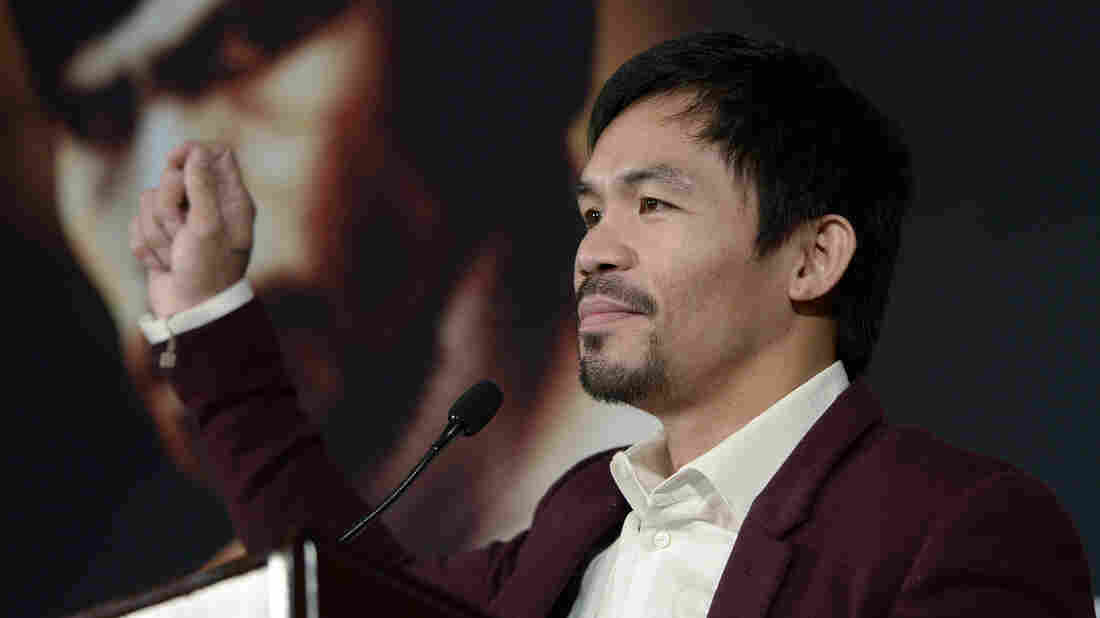 "Manny Pacquiao, who's currently running for a Senate seat in the Philippines, was criticized for saying it was ""common sense"" that animals don't have homosexual relations — and that people who do are worse than animals."