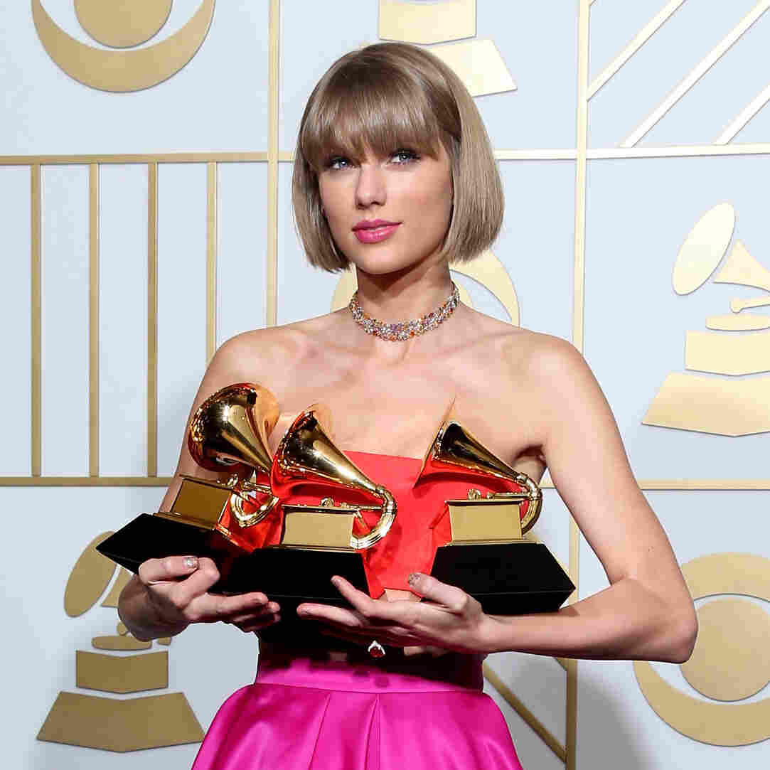 Taylor Swift won three Grammy Awards, including Album of the Year, for her album 1989.