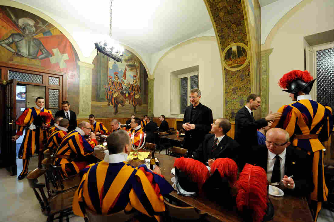 The Pontifical Swiss Guard is not only a military company, but also a community. More than 100 men, their wives and children live in the barracks and the facilities at the special campus for the guard, a small Swiss homeland set aside inside Vatican City.