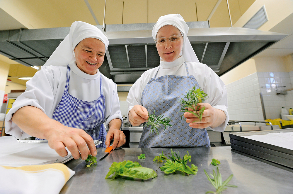 Polish nuns do most of the cooking at the Vatican. Here, they prepare sweets for the Feast of St. Nicholas.