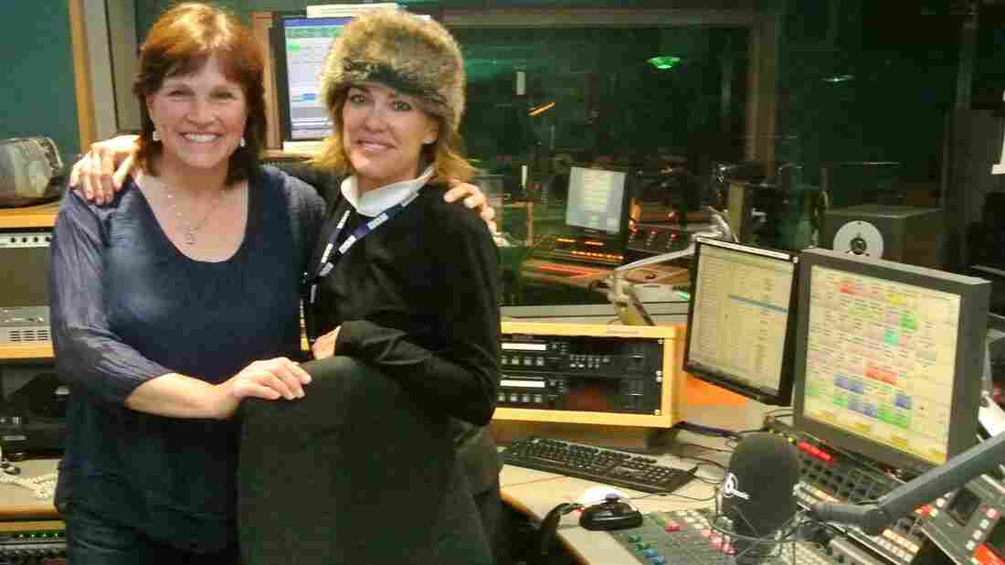 Fiona Ritchie and Cerys Matthews at the BBC Music studios.