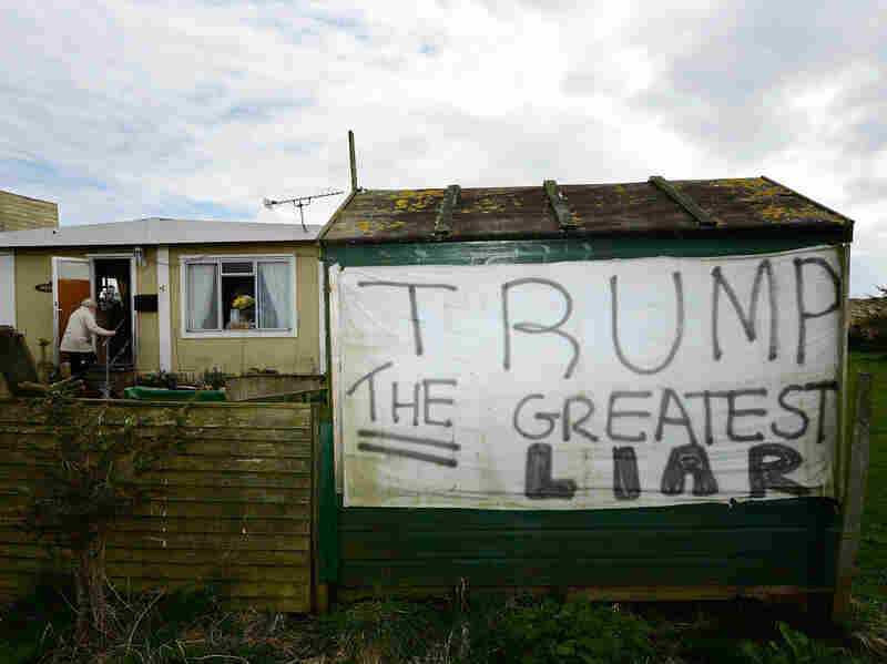 Local anger at Trump simmered while his golf course was under construction in April 2012.
