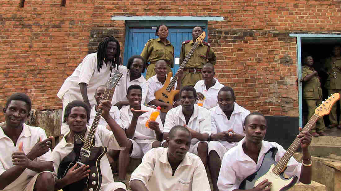 Some of the singers and musicians in Malawi's Zomba Prison. They were nominated for a Grammy in the world music category.