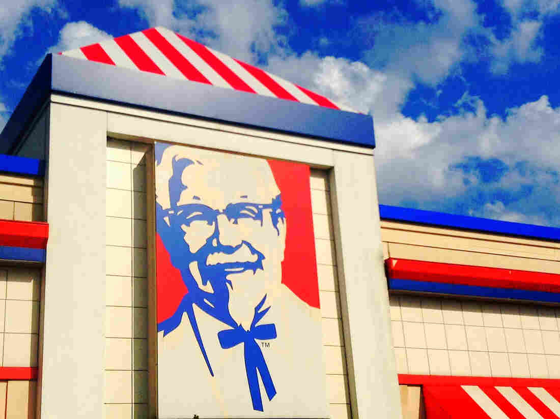 Colonel Harland Sanders of KFC.