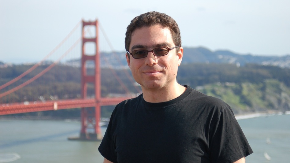 Iranian-American businessman Siamak Namazi, shown here in a snapshot at California's Golden Gate Bridge, was arrested by Iranian authorities in October. (Courtesy Bijan Khajehpour)