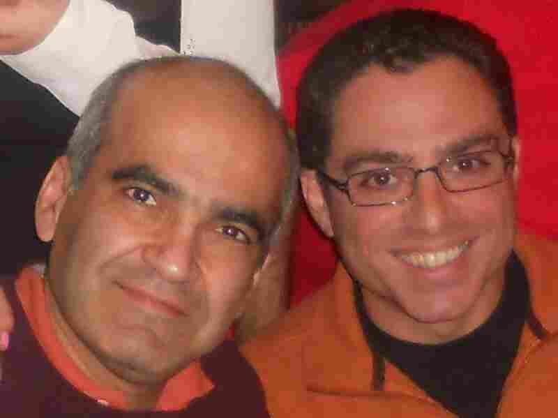 """Siamak Namazi (right), with his friend and former business partner, Bijan Khajehpour. """"The average Iranian-American, especially the average Iranian-American who has good contacts on one or both sides, are suspects, unfortunately,"""" says Khajehpour."""