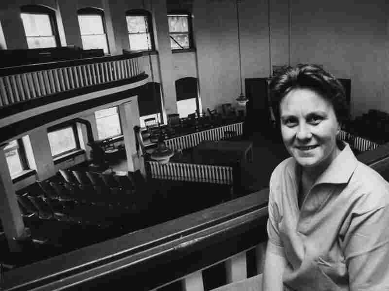 Harper Lee in a courthouse near her hometown of Monroeville, Ala.