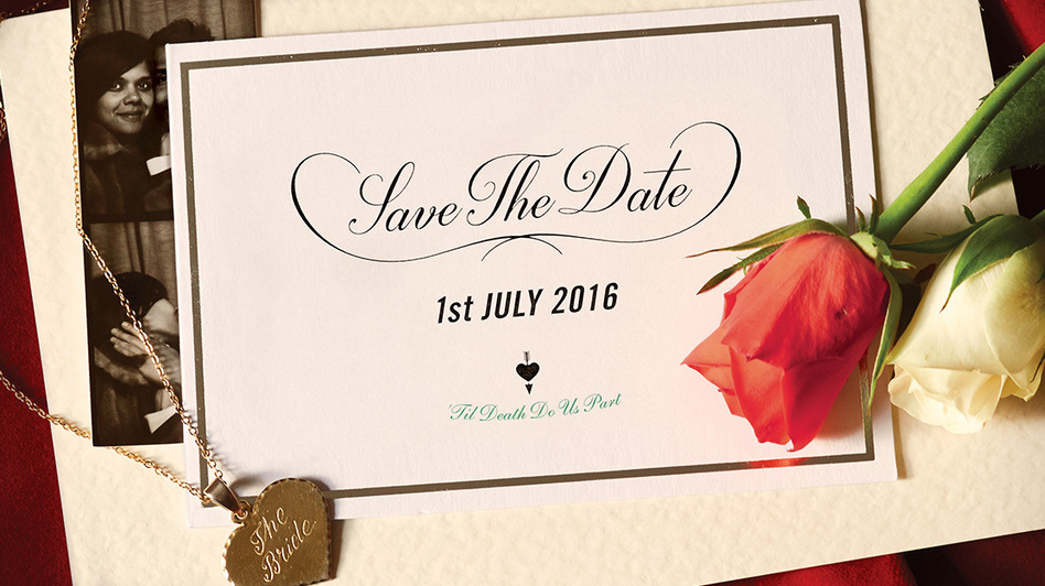 """Bat For Lashes' """"I Do"""" artwork comes as a save-the-date card. (Courtesy of the artist)"""