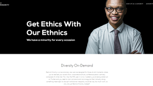 "The website that offers a satirical ""solution"" for the lack of workplace diversity."