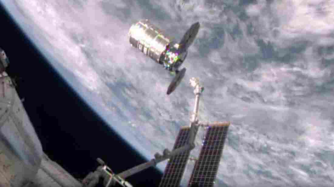 """The """"SS Deke Slayton II"""" resupply spacecraft was released by a robotic arm while the International Space Station was over Bolivia on Friday morning."""