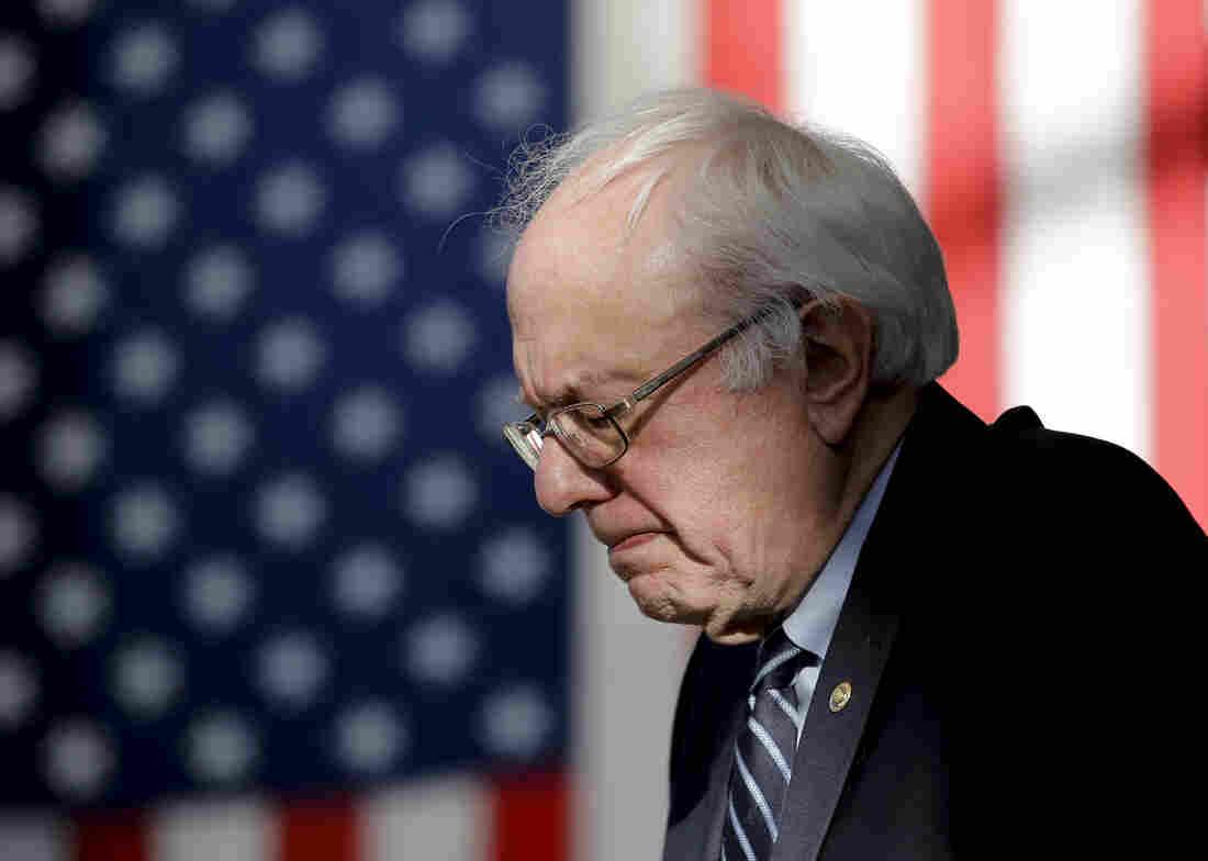 Democratic presidential candidate Sen. Bernie Sanders speaks on the day of the Nevada Democratic caucus in Las Vegas.