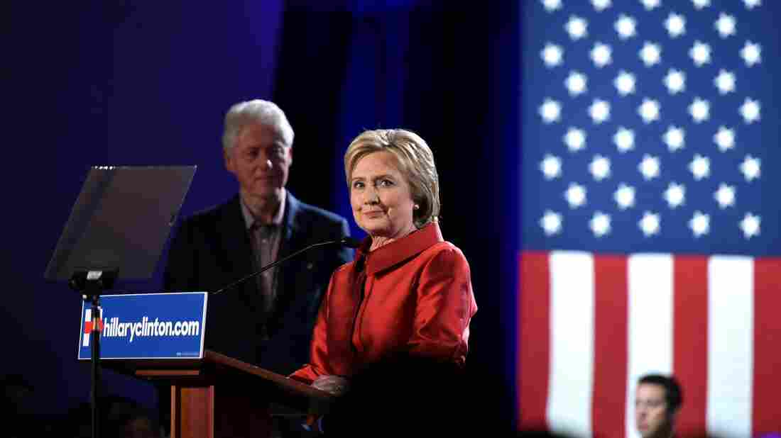 Hillary Clinton speaks to a cheering crowd after winning the Nevada Democratic caucus at Caesars Palace in Las Vegas on Saturday.