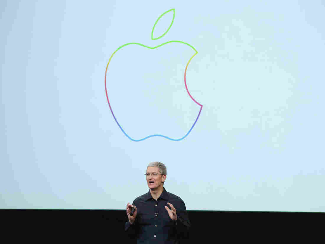 Apple CEO Tim Cook speaks during an event at Apple's headquarters Oct. 16, 2014 in Cupertino, California.