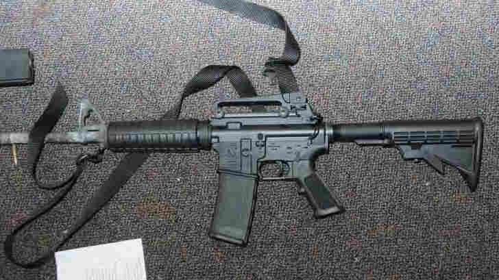 This Bushmaster AR-15 rifle was used in an attack on Sandy Hook Elementary School in December 2012. A wrongful death lawsuit has been filed against the company on behalf of 10 victims of the deadly attack.