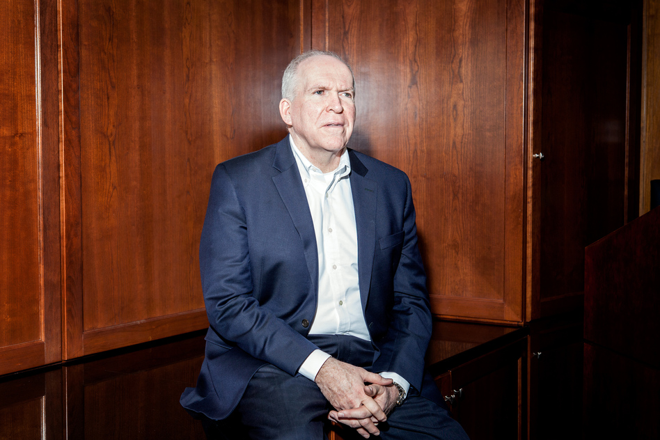 CIA Director John Brennan discussed ISIS, the FBI-Apple dispute over an iPhone, the state of the Iran nuclear deal, and his future plans as President Obama's term draws to a close. (Ariel Zambelich/NPR)