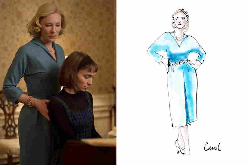 Sandy Powell's sketches for the film Carol.