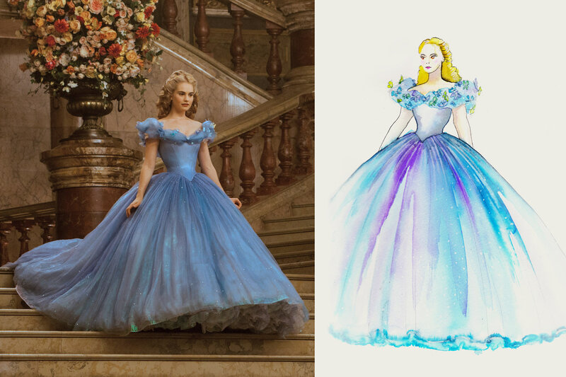 Sandy Powell S Sketches For The Film Cinderella