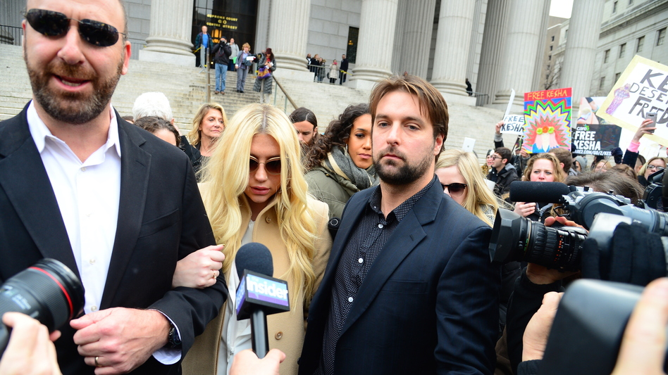 Kesha leaves the New York State Supreme Court. (Getty Images)