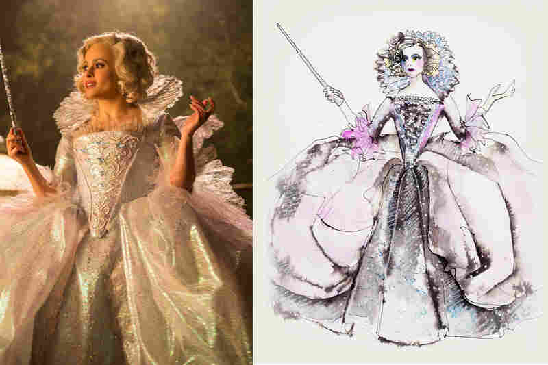 Sandy Powellu0027s sketches for the film Cinderella. & Oscar-Winner Sandy Powell Costumes The Stars : NPR
