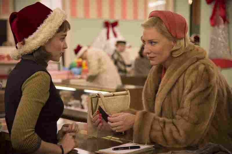 """Cate Blanchett's blonde mink coat in Carol was actually made of bits of many coats. """"There's something about rich people wearing light colors that denotes luxury and sophistication,"""" says British costumer Sandy Powell."""