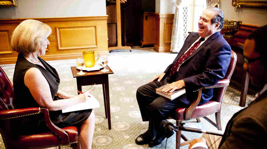 Nina Totenberg interviews the late Supreme Court Justice Antonin Scalia in 2012.