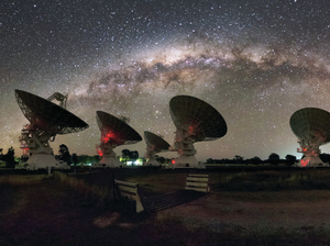 CSIRO's Australia Telescope Compact Array at the Paul Wild Observatory.