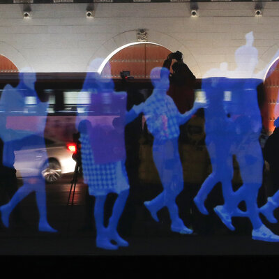 'Ghost Protest' In Seoul Uses Holograms, Not People