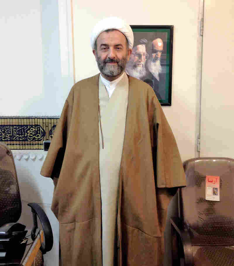 "Ayatollah Ismail Pourvahab, in his office at a religious school in Qom, is deeply critical of Iran's nuclear deal with the west. He says if Americans want Iranians to stop burning U.S. flags, they can ""pay compensation for all the oppression"" they're responsible for."