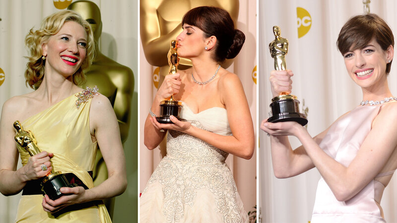 Curse? What curse? Above, best supporting actress winners Cate Blanchett in 2005, Penélope Cruz in 2009 and Anne Hathaway in 2013. (Frank Micelotta/Getty Images; Jason Merritt/Getty Images; Jason Merritt/Getty Images)